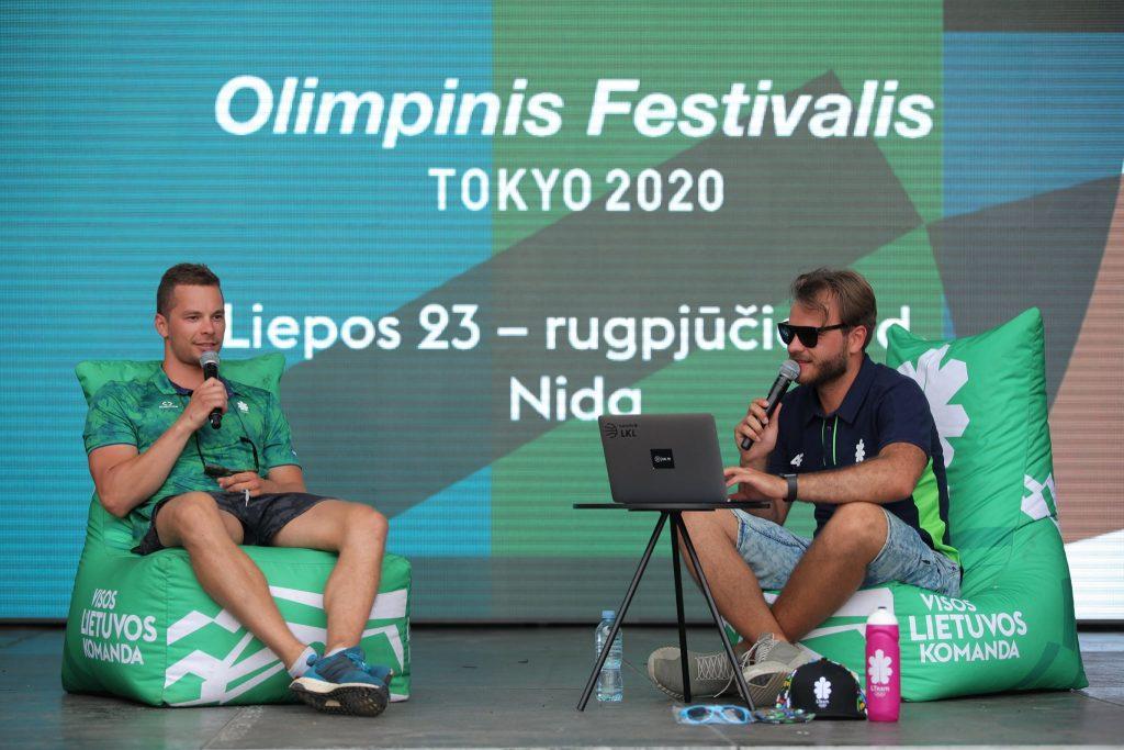Olimpinis festivalis Ergolain staliukas